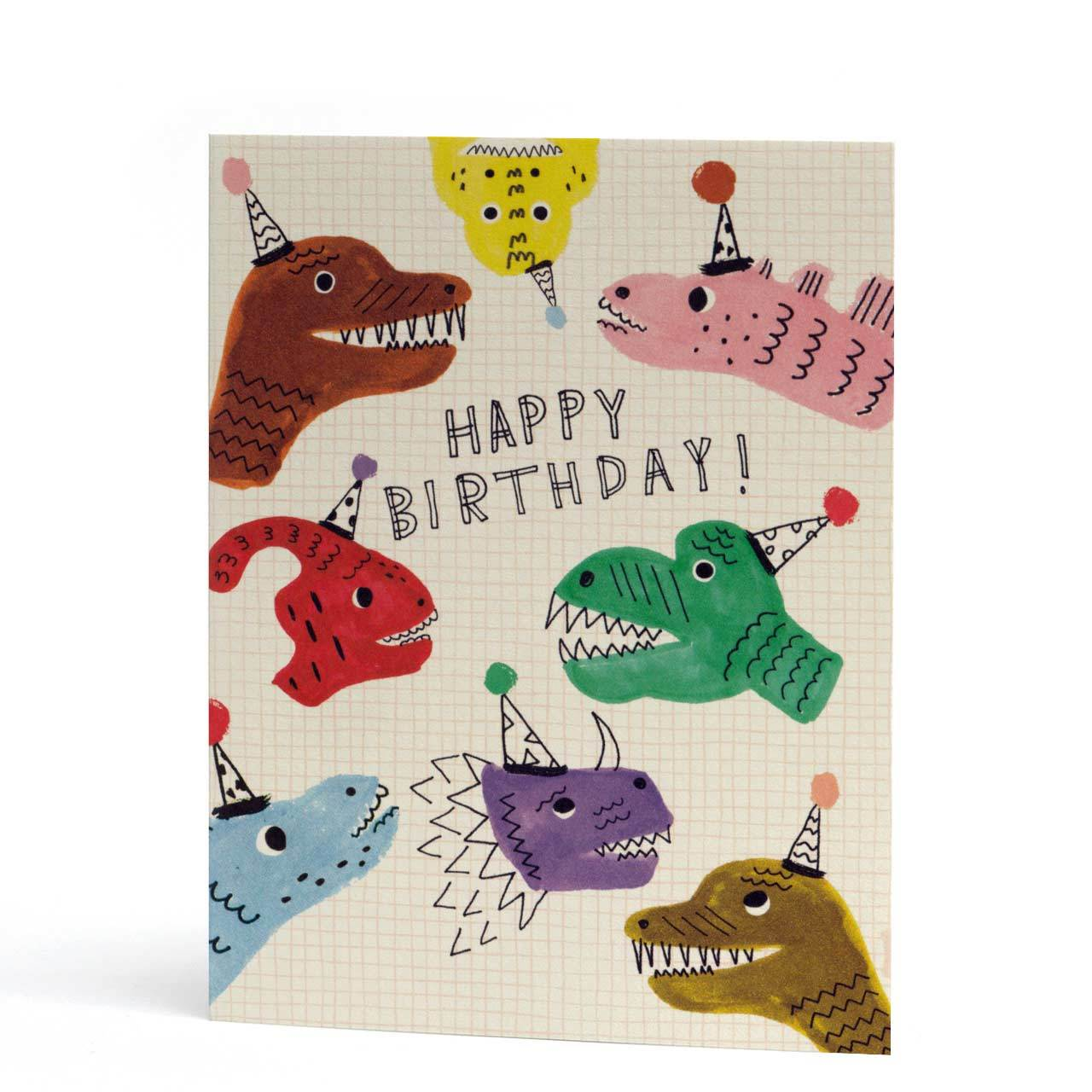 Dinosaurs Happy Birthday Card