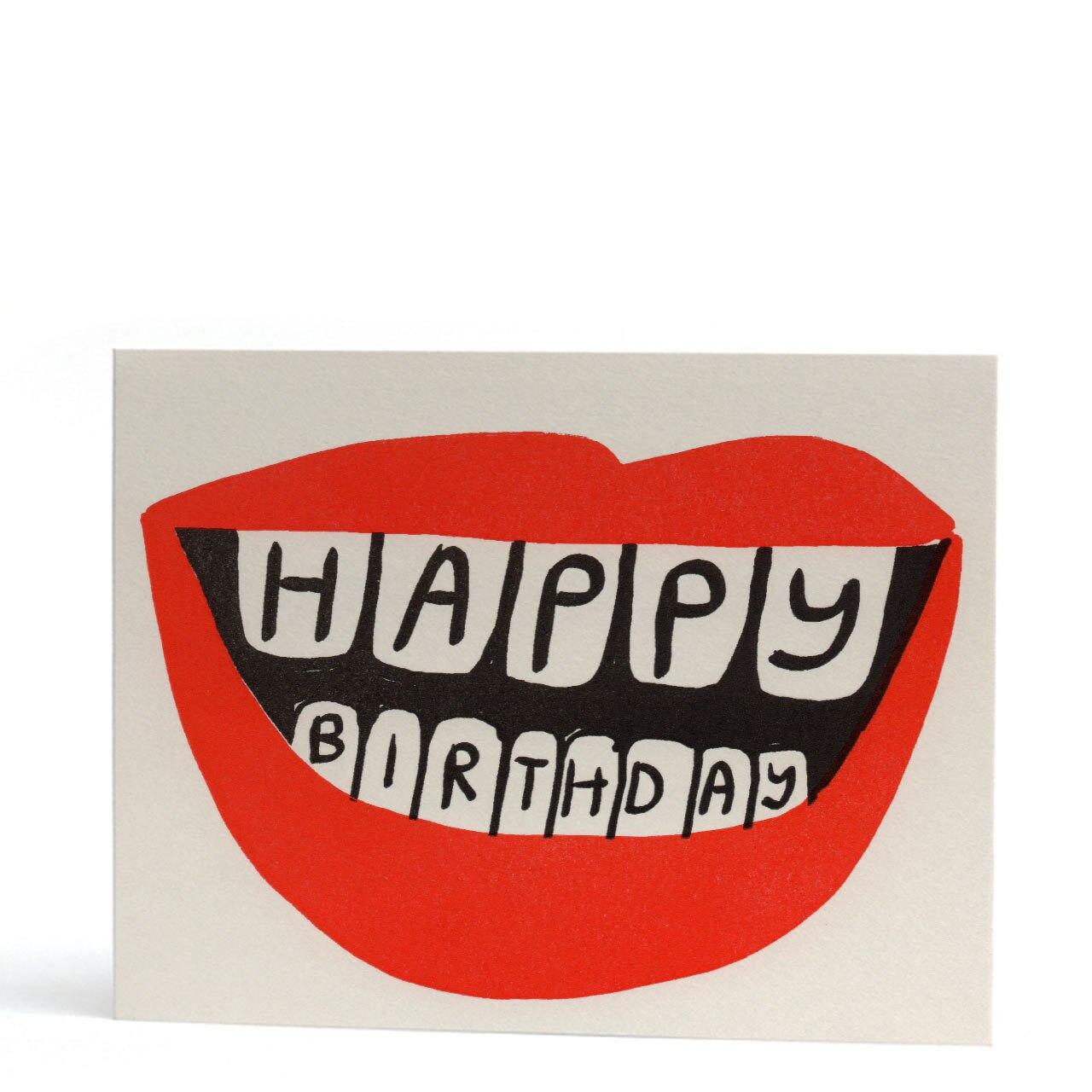 Big Mouth Birthday Letterpress Greeting Card