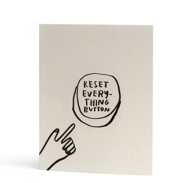 Reset Everything Letterpress Greeting Card