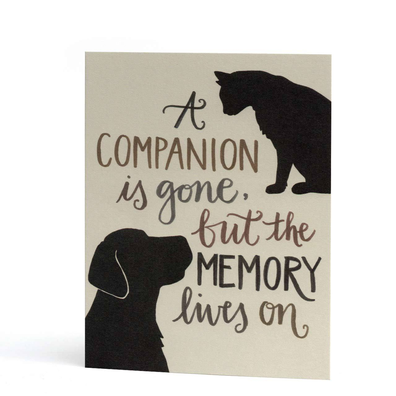 Companion Pet Sympathy Greeting Card