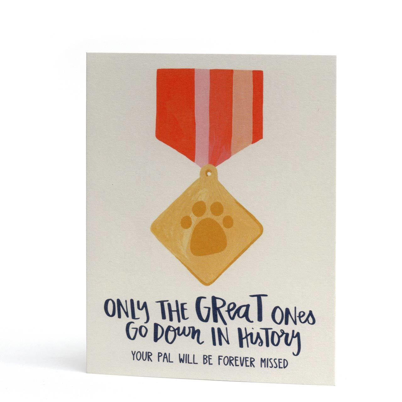 Forever Missed Pet Sympathy Greeting Card