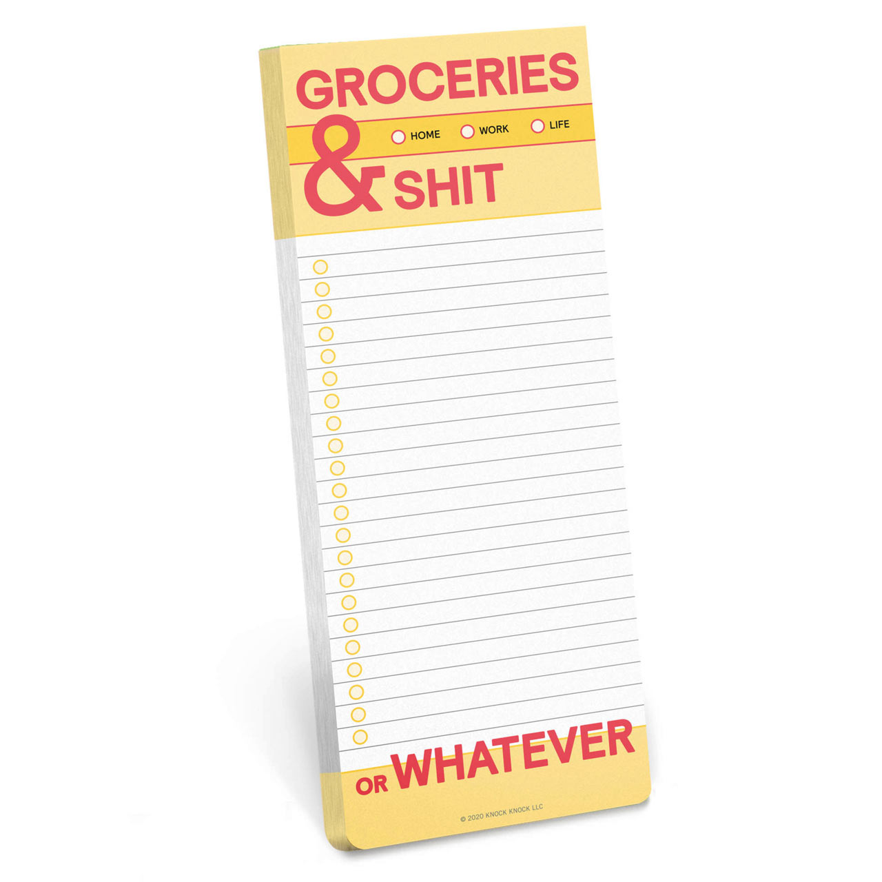 Groceries & Shit - Make a List Note Pad
