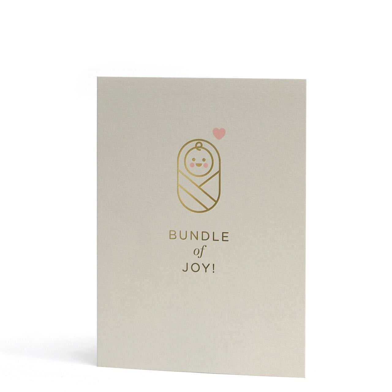 Bundle of Joy Mini Gold Foil Greeting Card