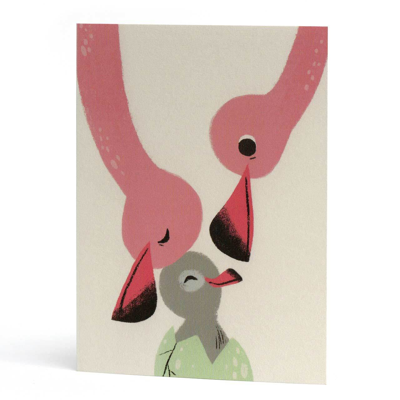 Baby Flamingo Greeting Card