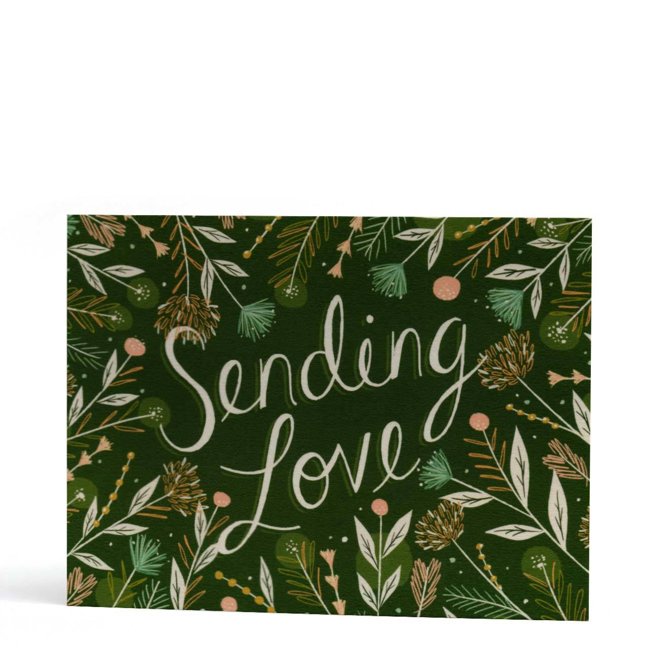 Sending Love Greeting Card