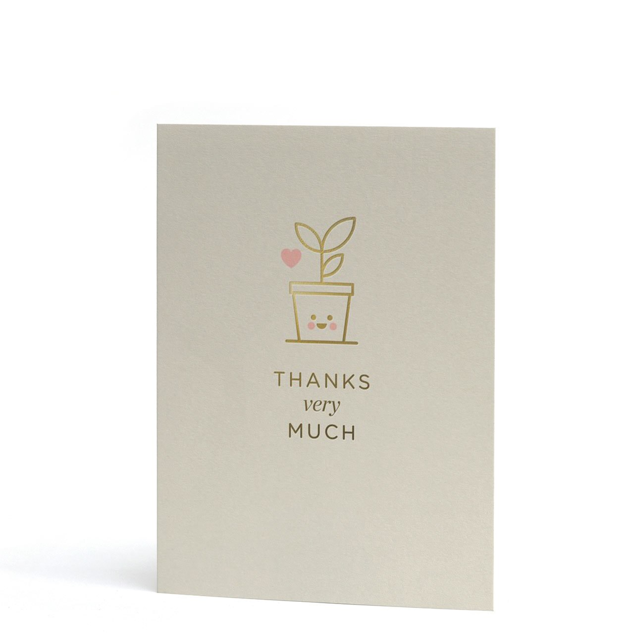 Thanks Very Much Mini Gold Foil Greeting Card