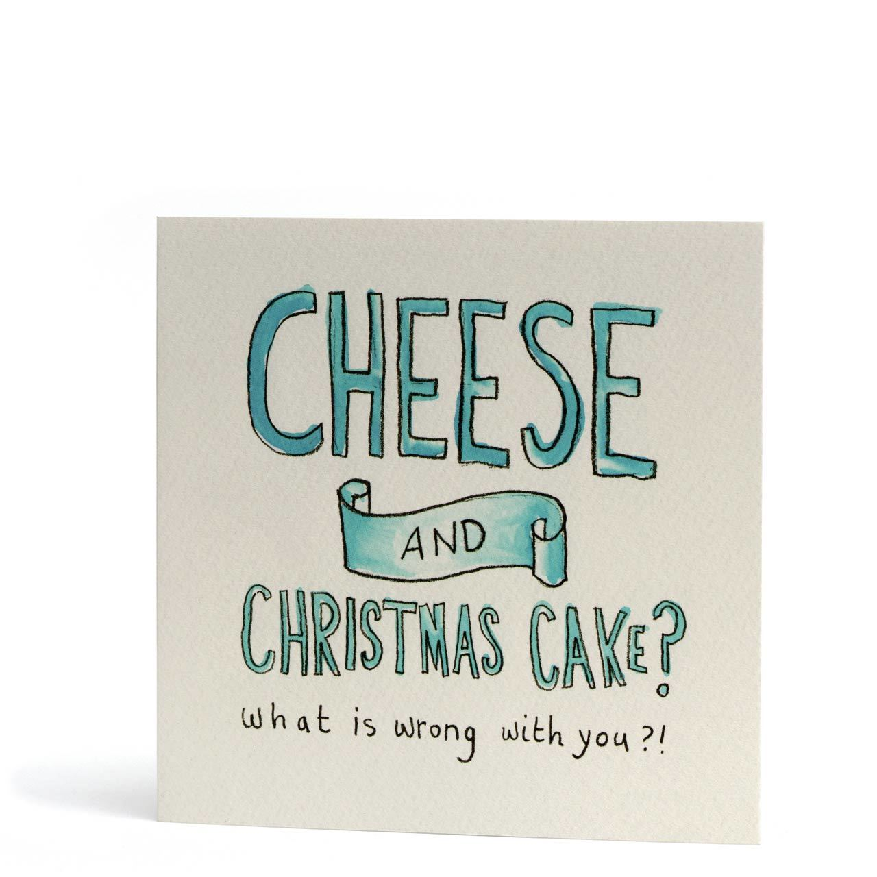 No To Cheese and Christmas Cake Greeting Card