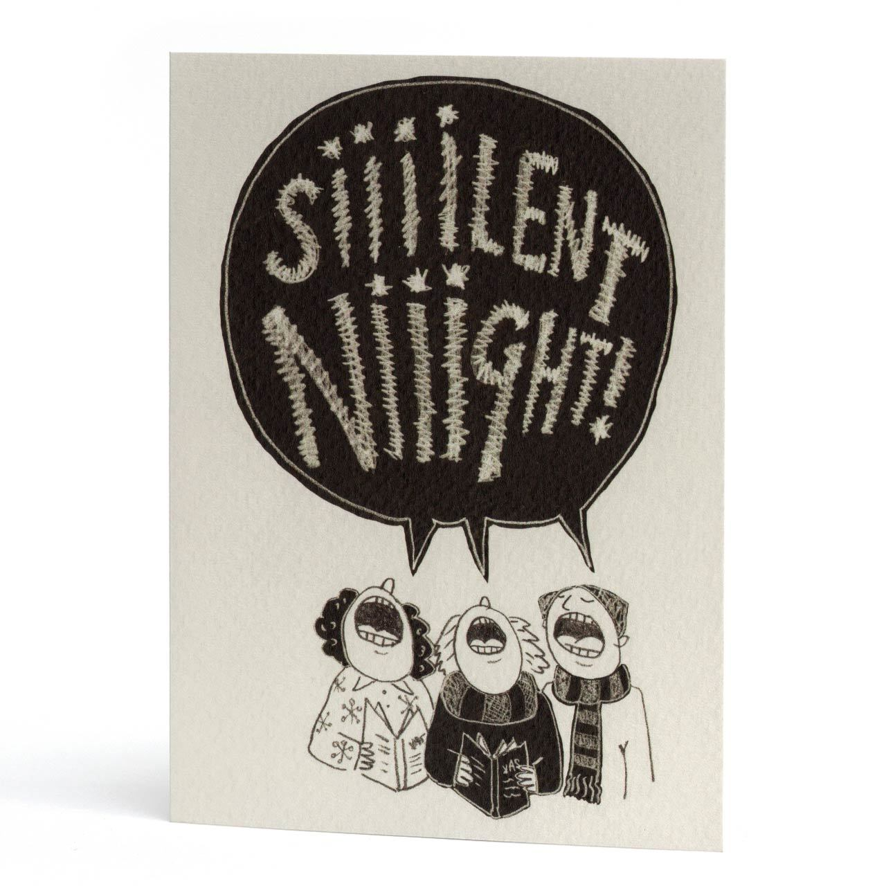 Silent Night Christmas Greeting Card
