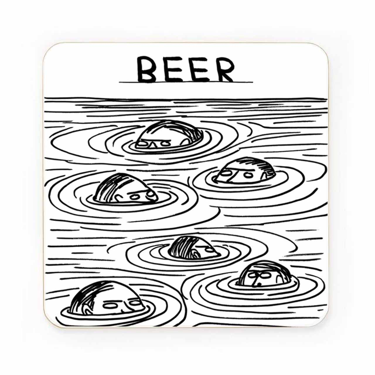 Beer Swimmers Drinks Coaster