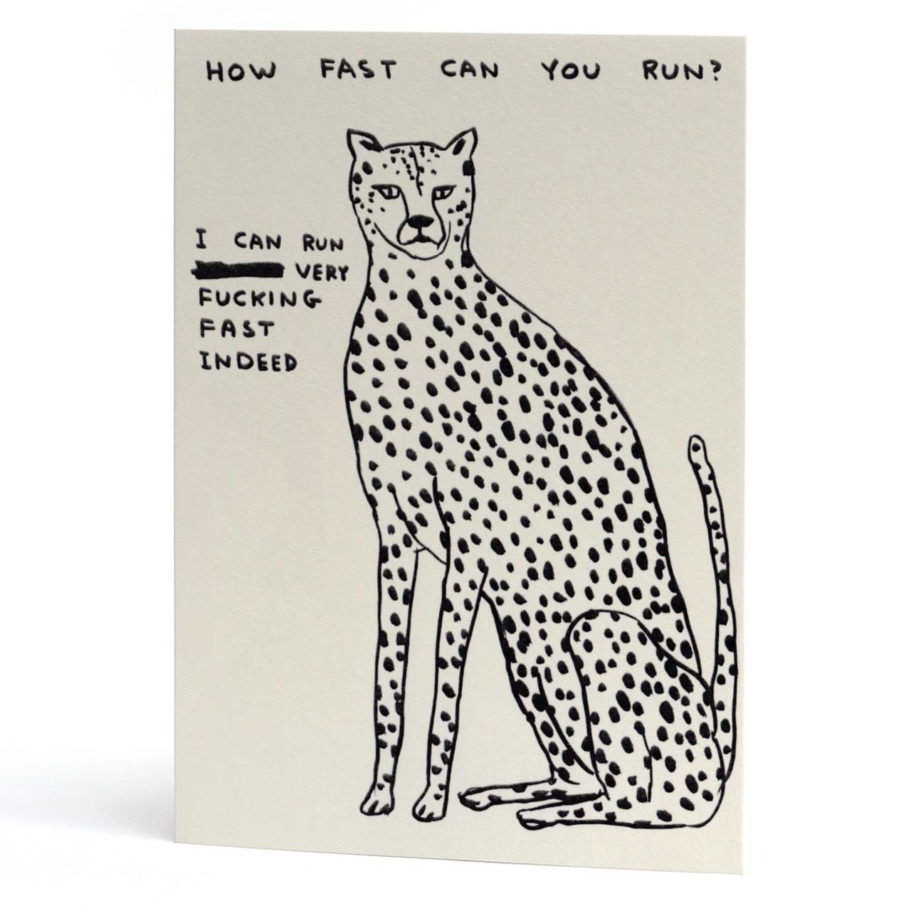 Fast Cheetah Greeting Card