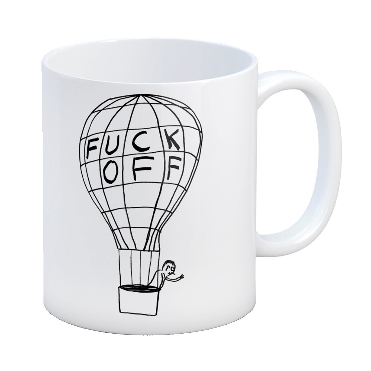 Fuck Off Balloon Boxed Mug