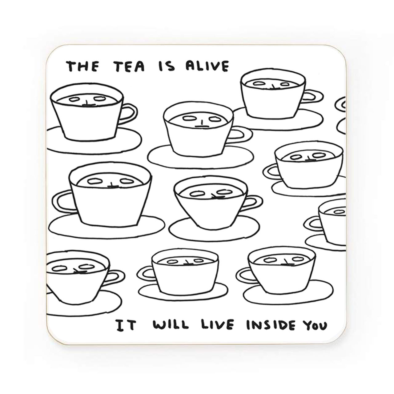 The Tea Is Alive Drinks Coaster