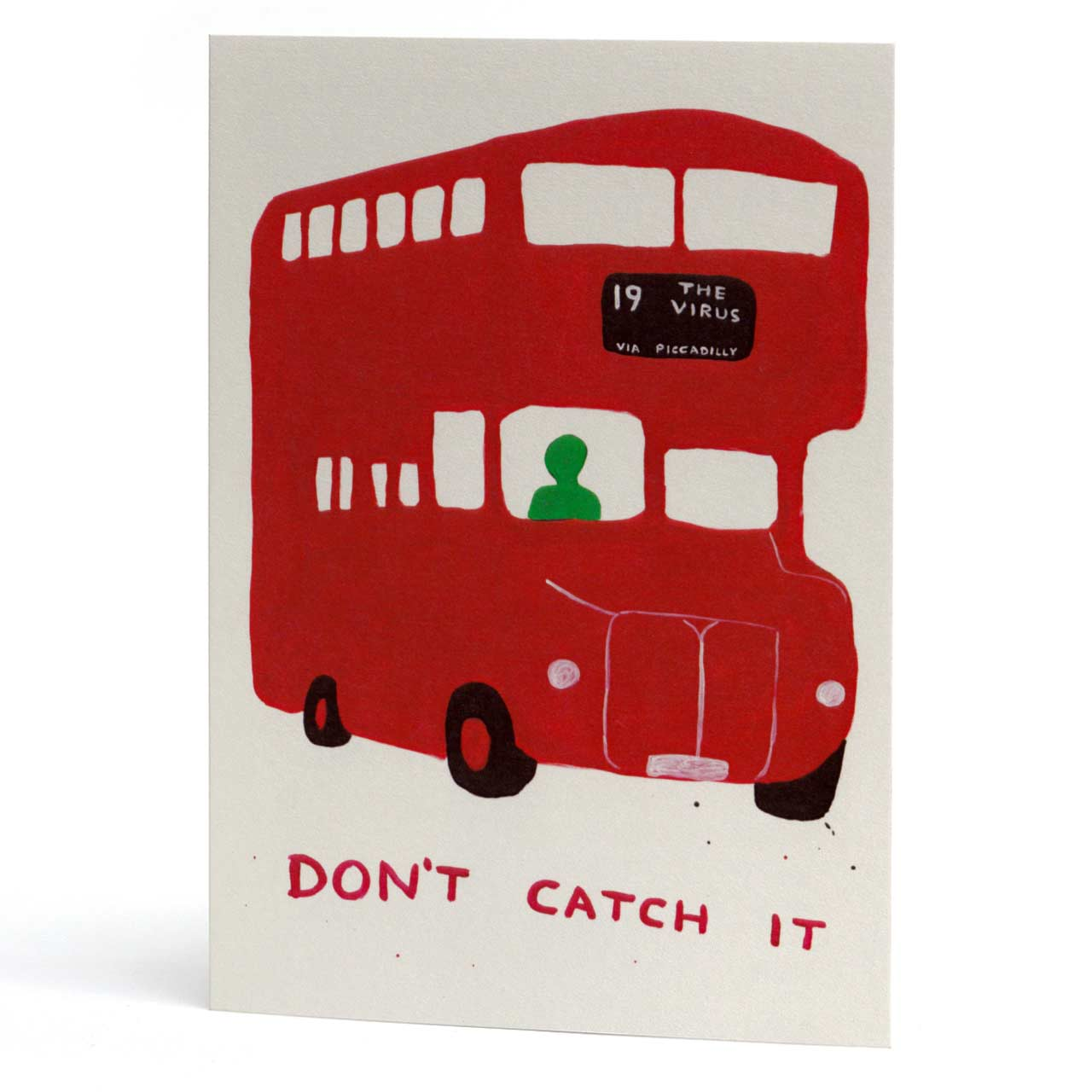 Virus Bus Greeting Card