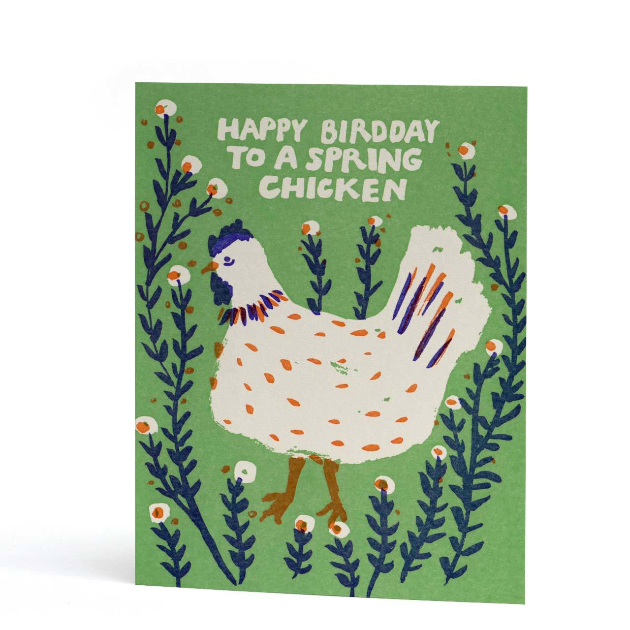 Happy Bird Day Birthday Letterpress Greeting Card