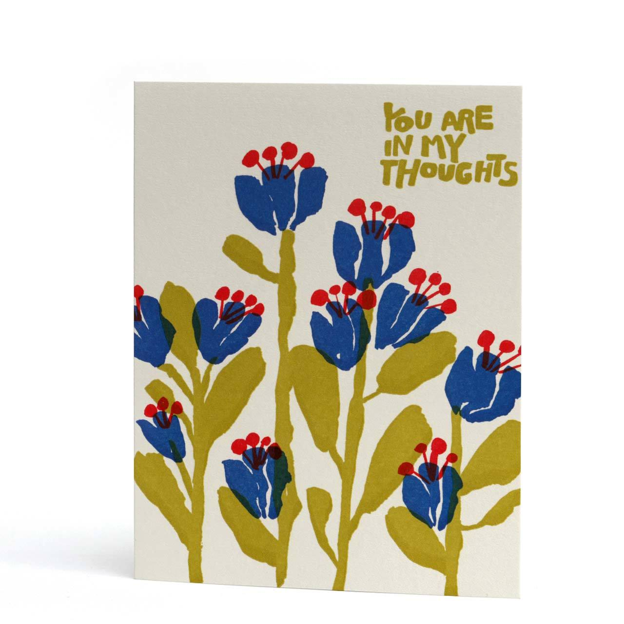 You Are In My Thoughts Letterpress Greeting Card