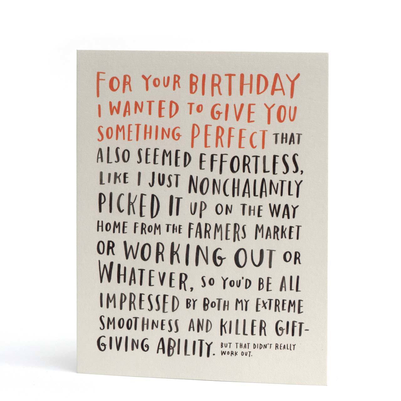 Awkward Birthday Greeting Card