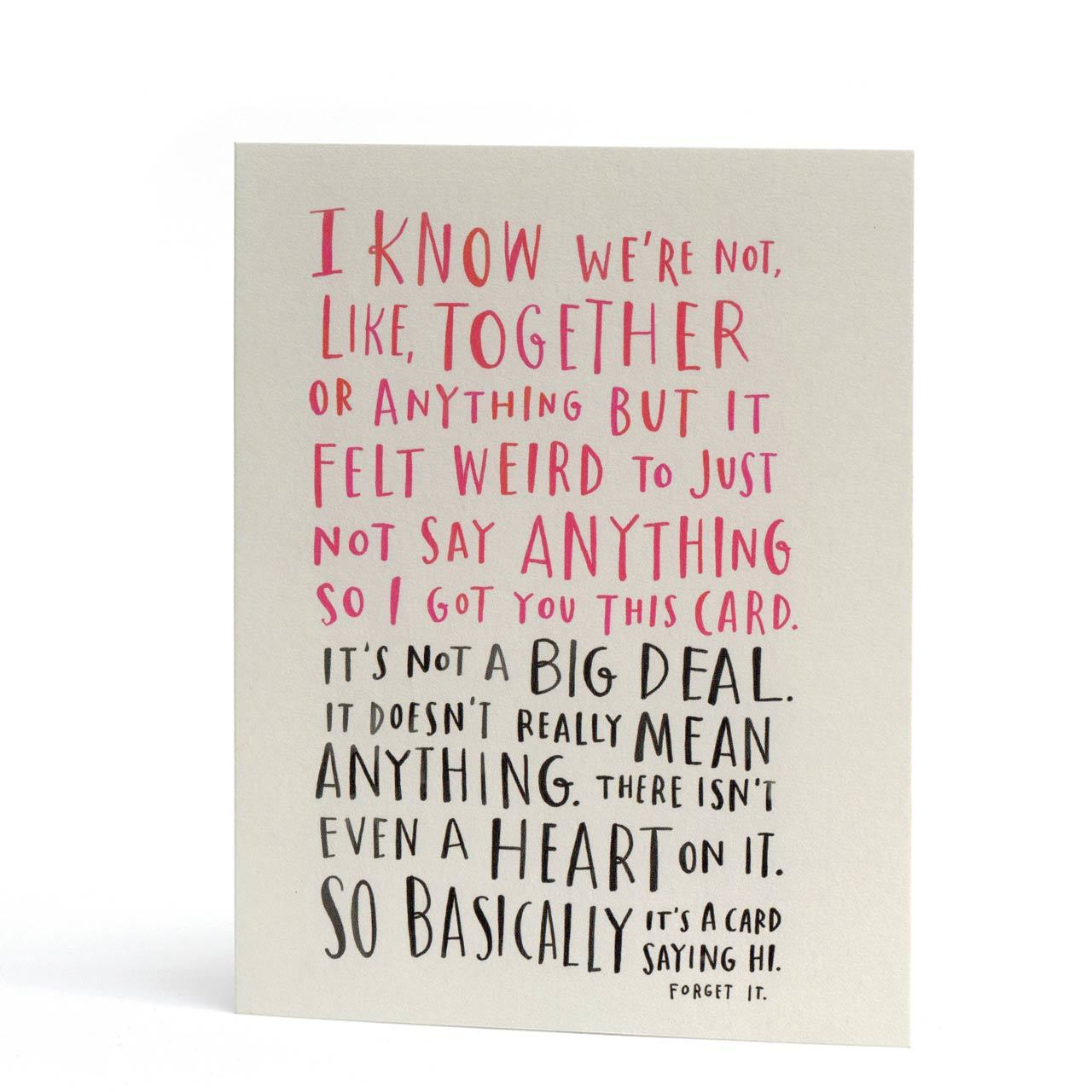 Awkward Dating Greeting Card