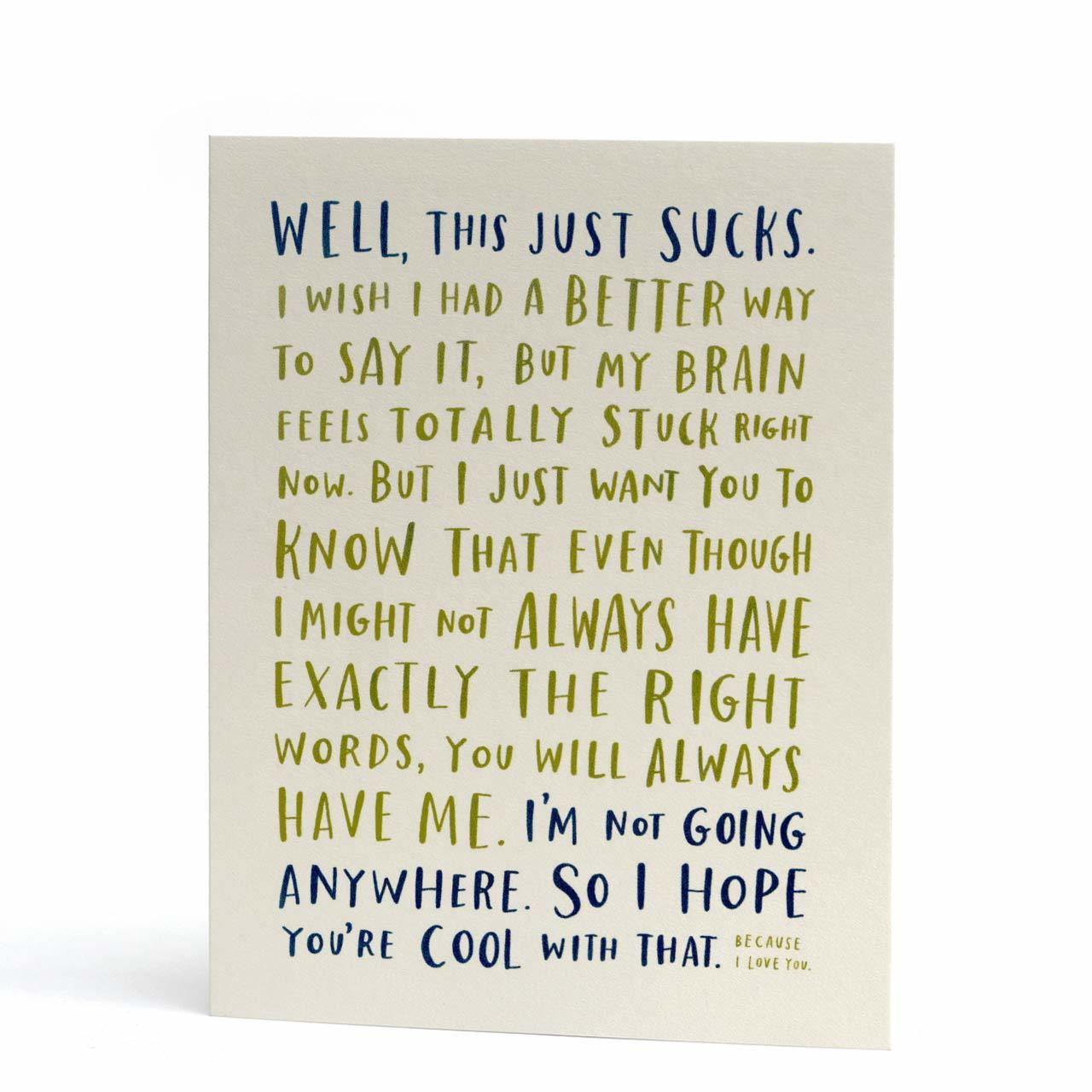 Awkward Sympathy Greeting Card