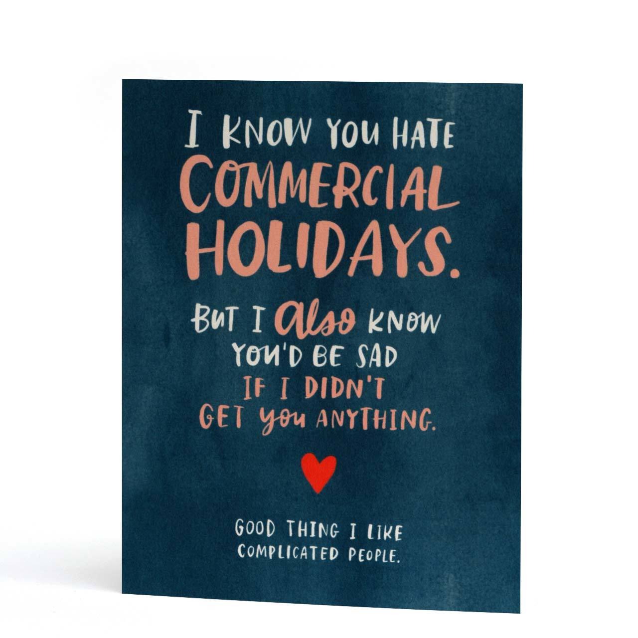 Commercial Holidays Greeting Card