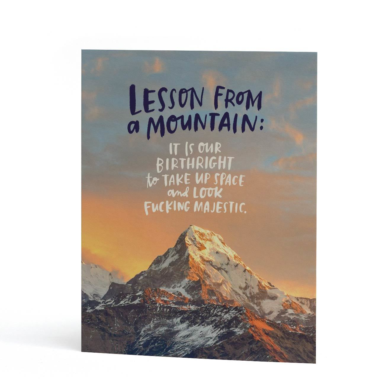 From A Mountain Greeting Card