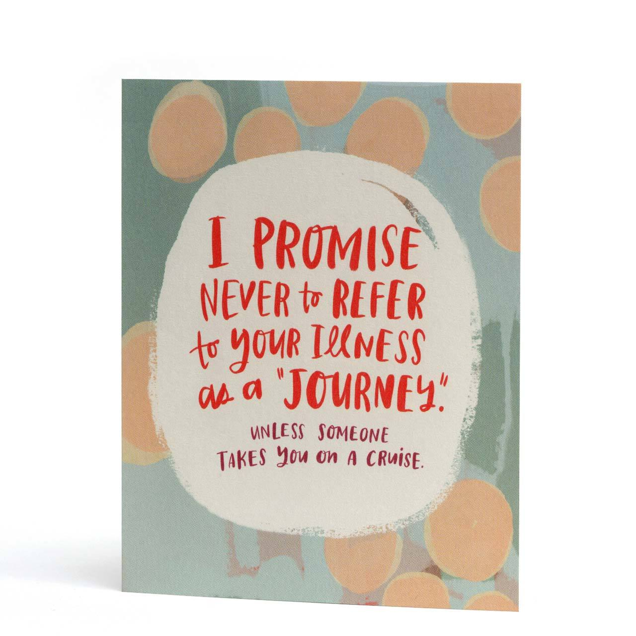 Illness is not a Journey Empathy Greeting Card