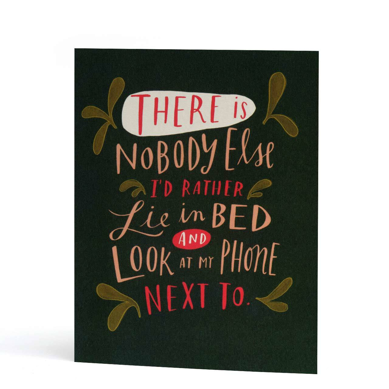 Look at my Phone Love Greeting Card