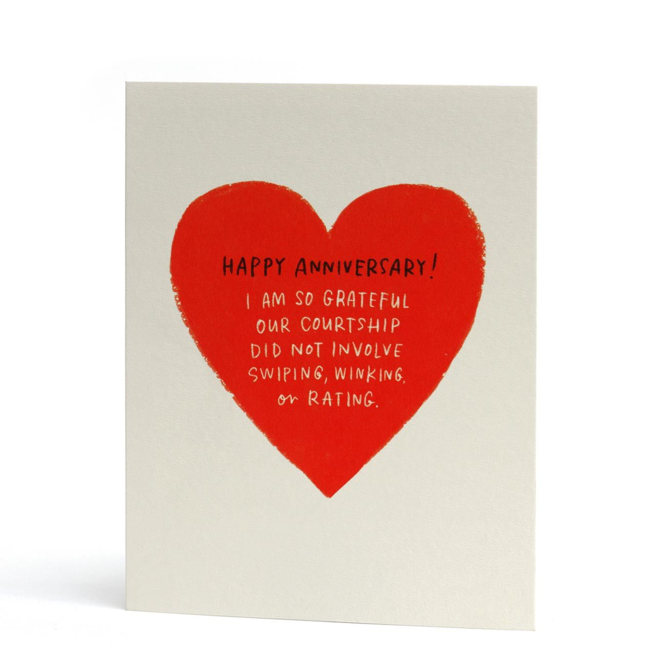 Swiping Winking Anniversary Greeting Card