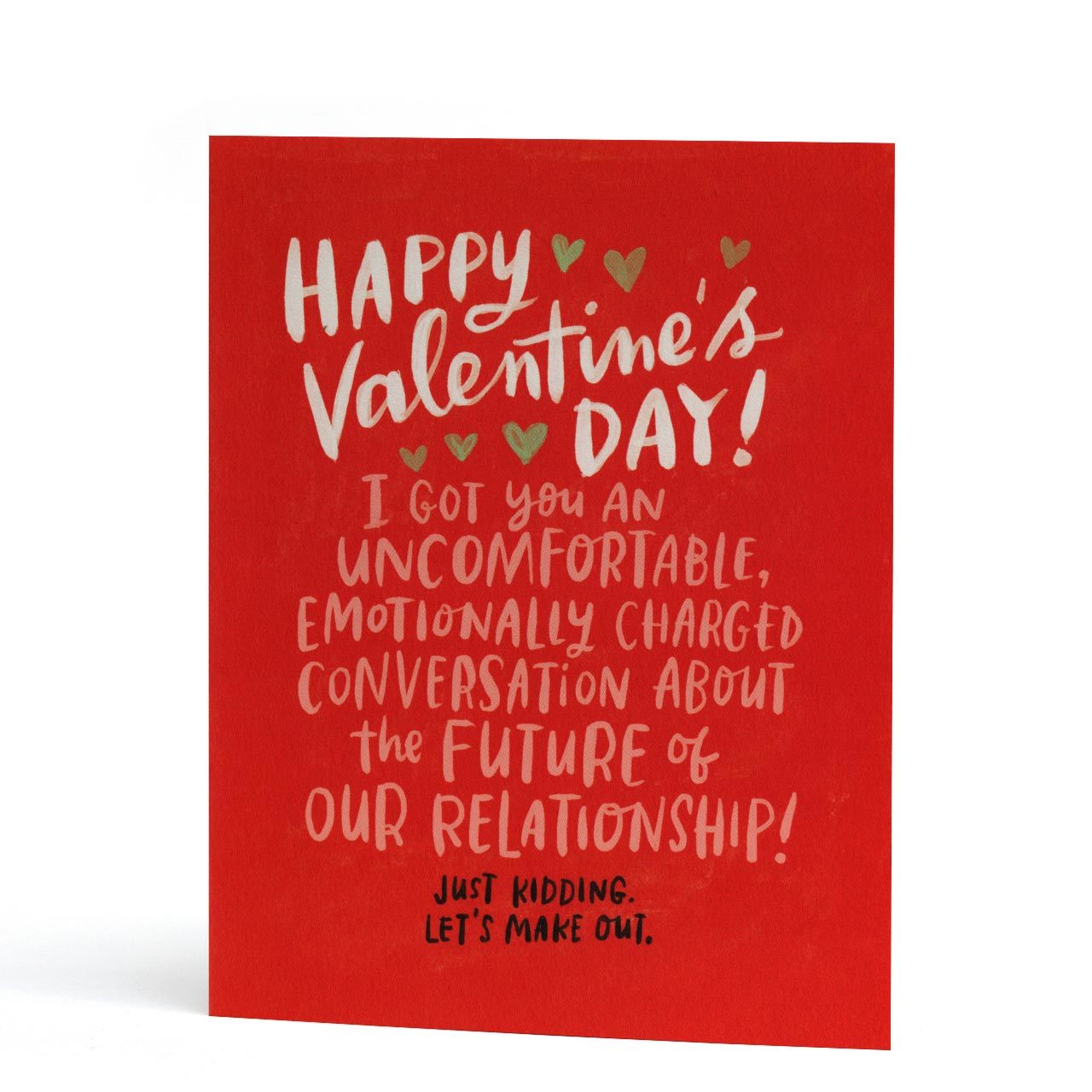 Uncomfortable Convo Valentines Day Greeting Card