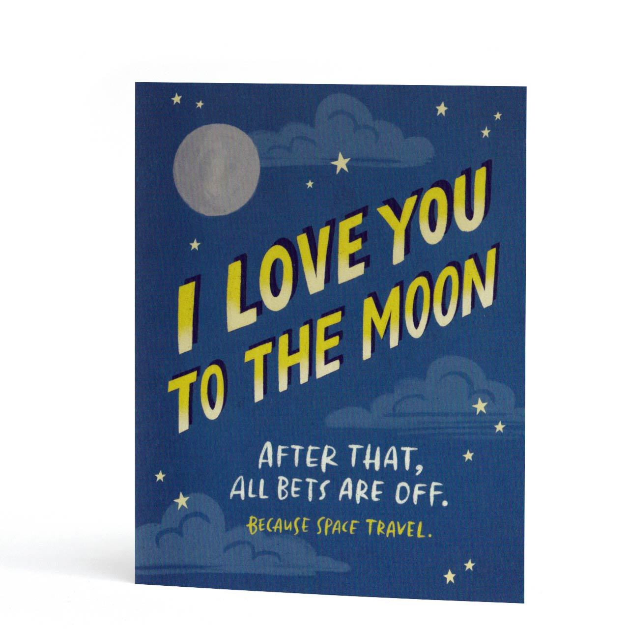 To The Moon Love You Greeting Card