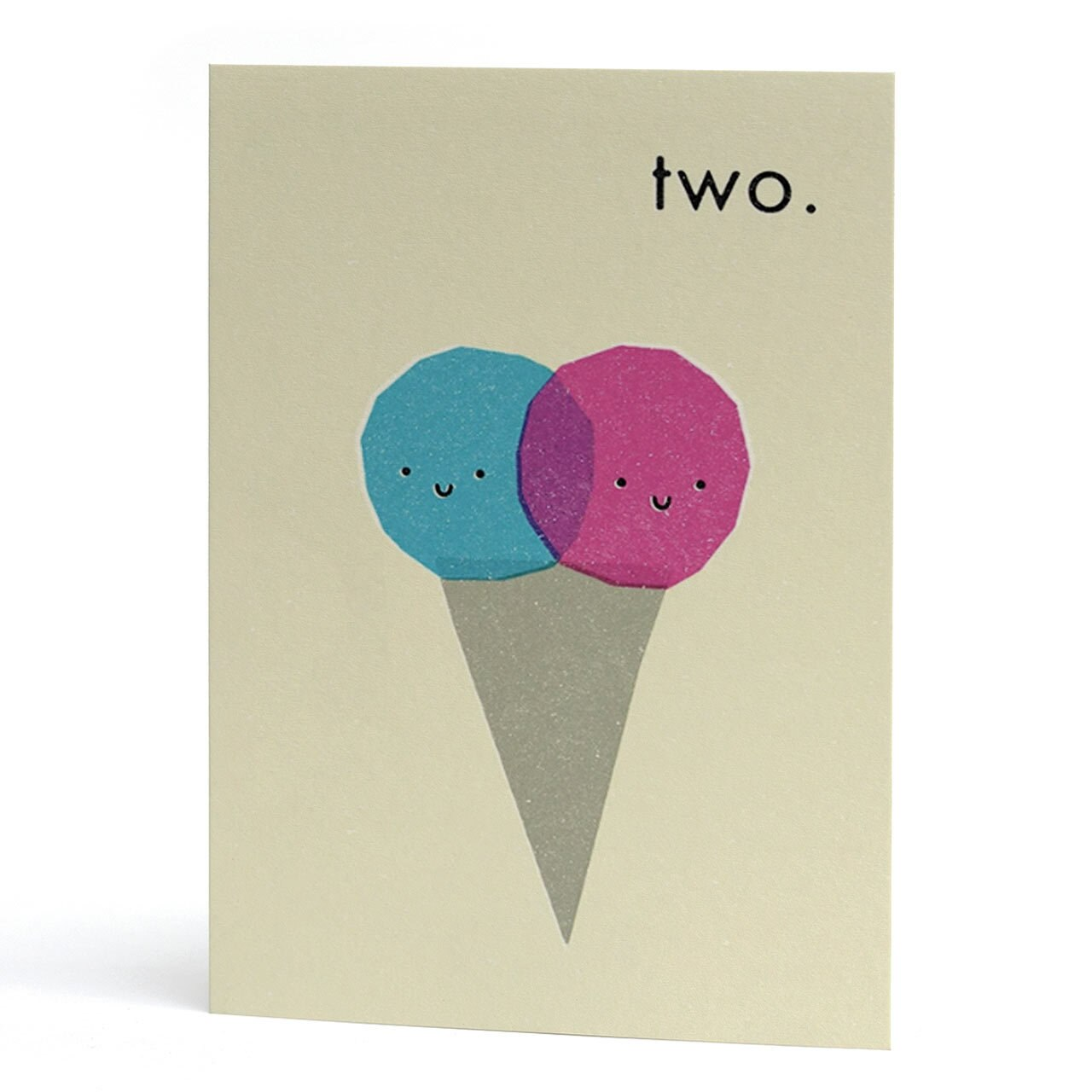 Two Ice Cream Cone Birthday Card