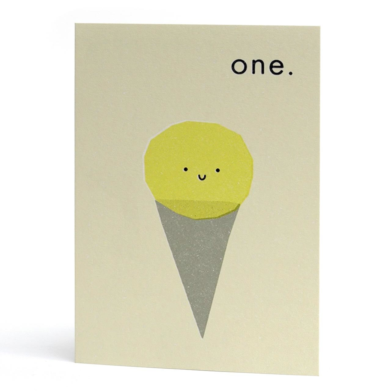 One Ice Cream Cone Birthday Card