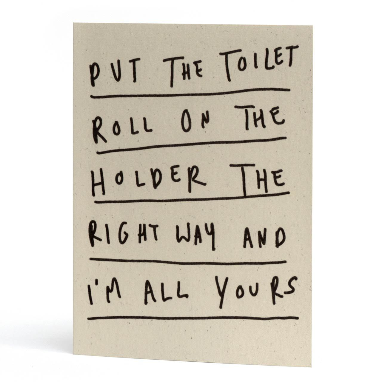 Toilet Roll Greeting Card