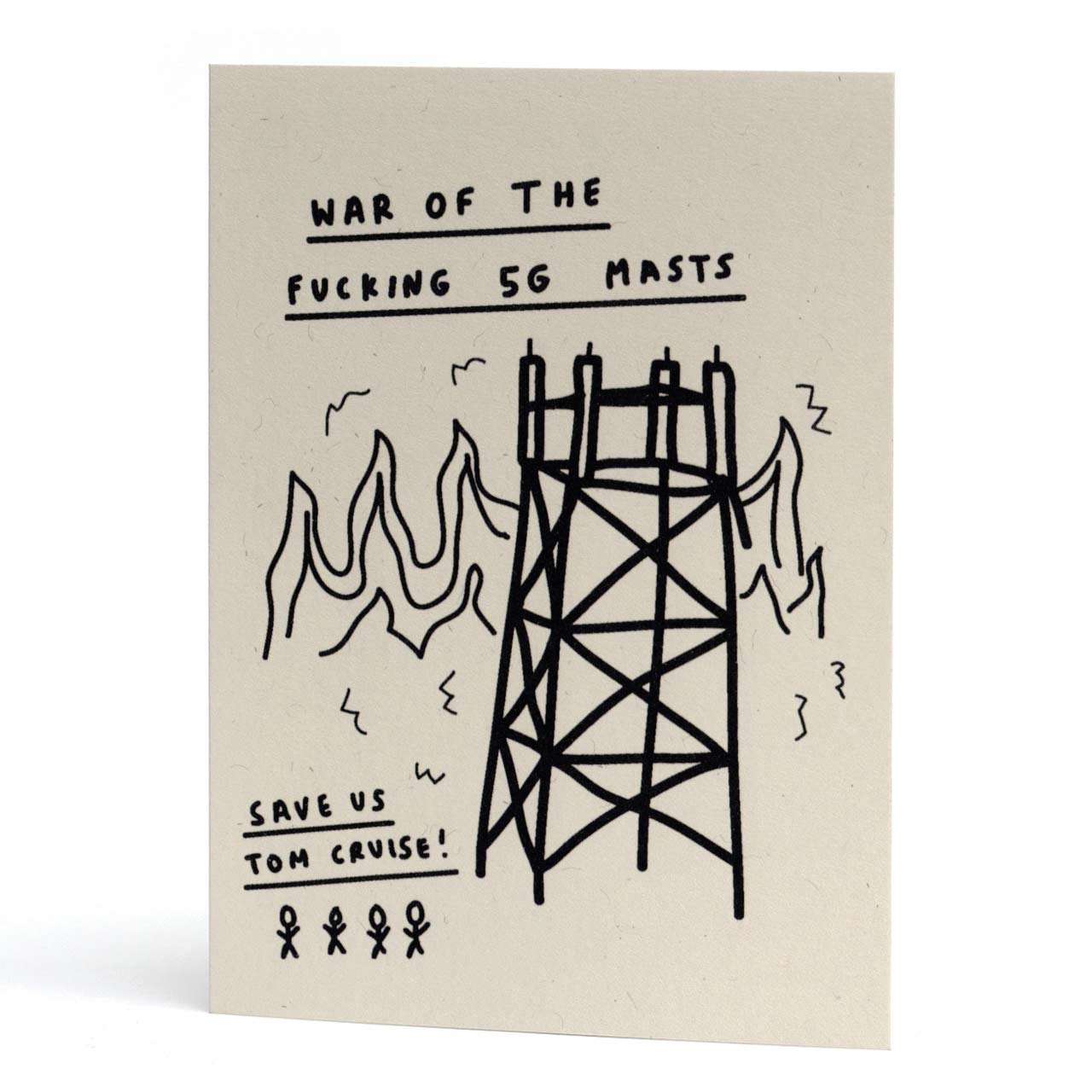 War of the 5G Masts Greeting Card