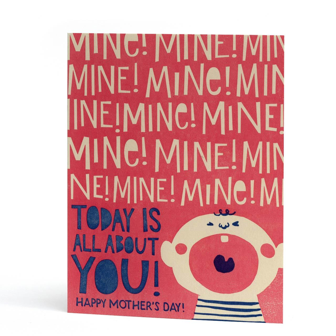 All About You Mother's Day Letterpress Greeting Card