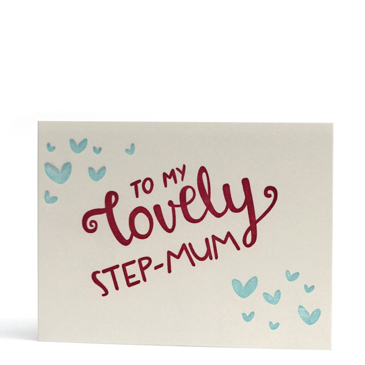 To My Lovely Step-Mum Letterpress Card