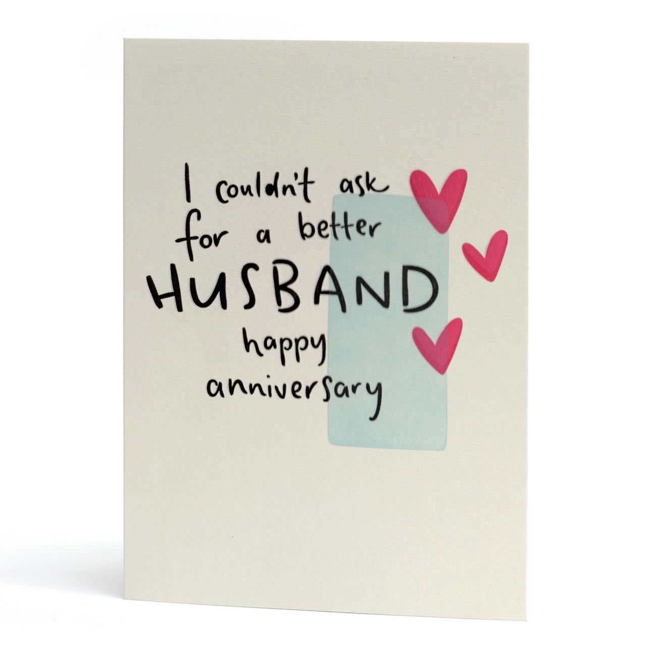 Couldn't Ask For A Better Husband Letterpress Anniversary Card