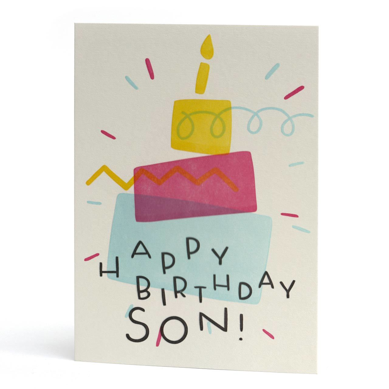 Happy Birthday Son Letterpress Card
