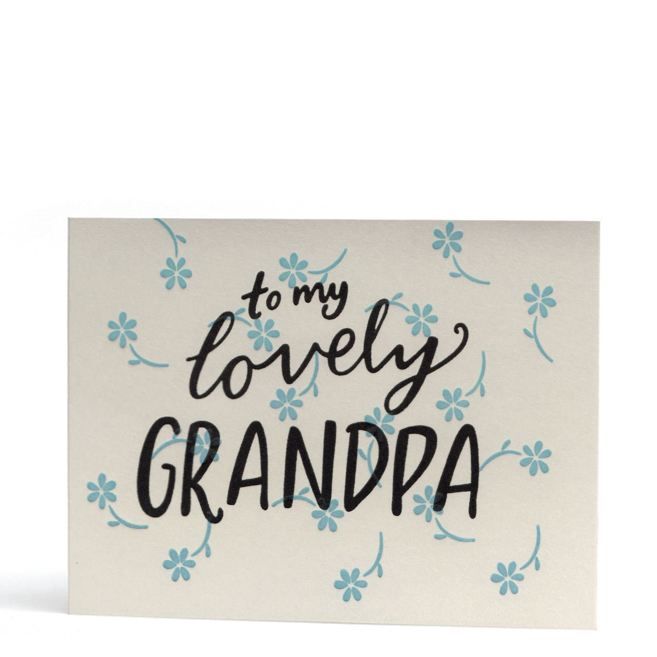 My Lovely Grandpa Letterpress Greeting Card