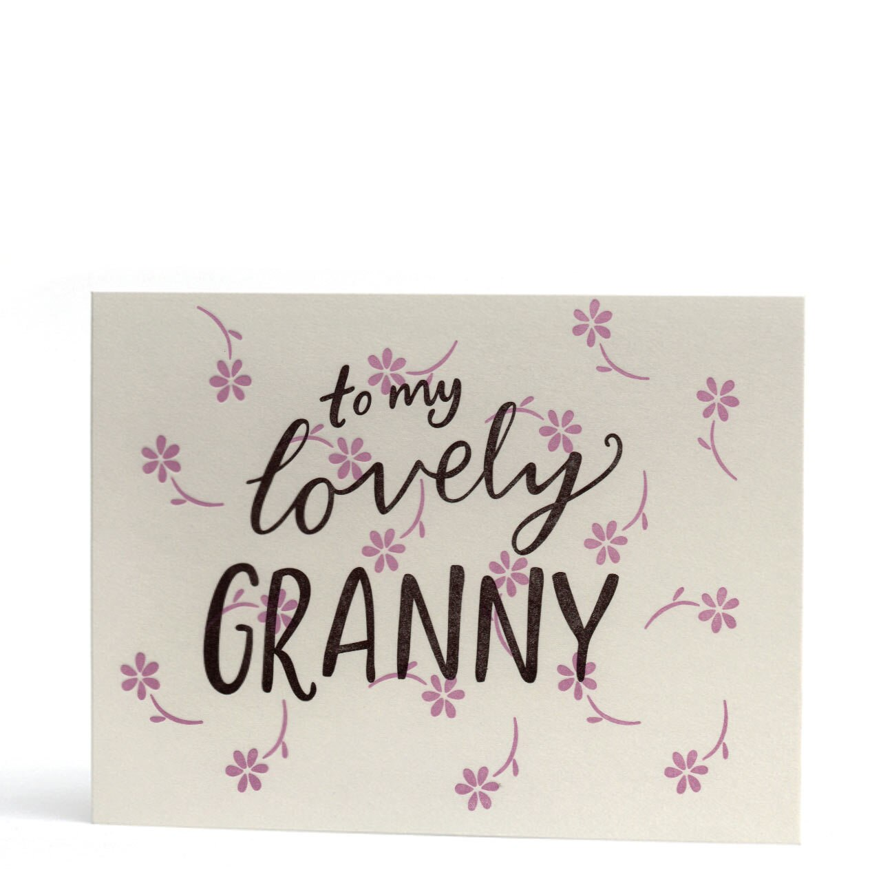 My Lovely Granny Letterpress Greeting Card