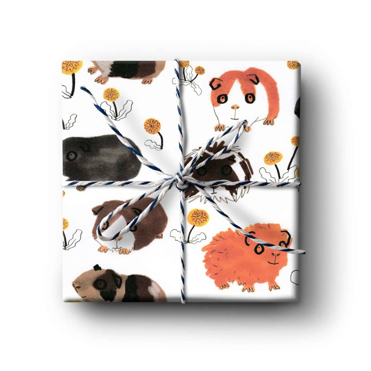Guinea Pig Gift Wrapping Paper - Folded Single Sheet