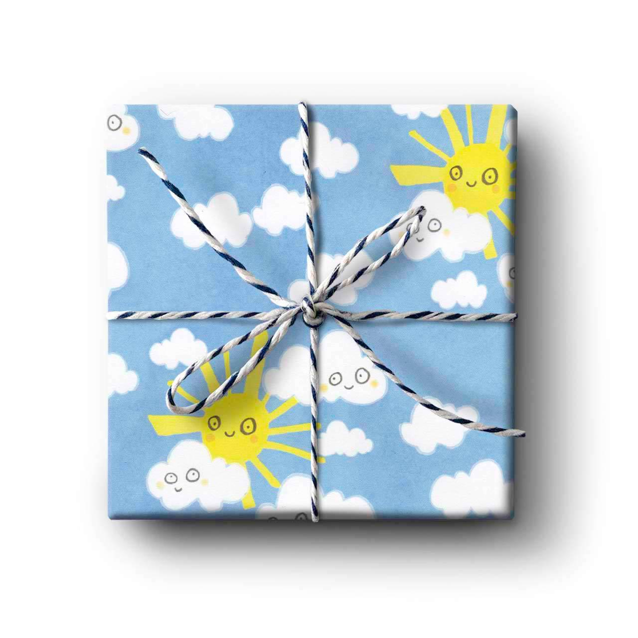 Happy Sunshine Gift Wrapping Paper - Folded Single Sheet