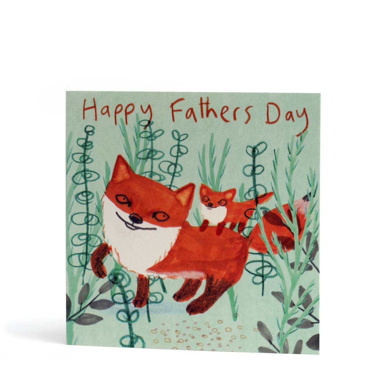 Happy Father's Day Foxes Greeting Card
