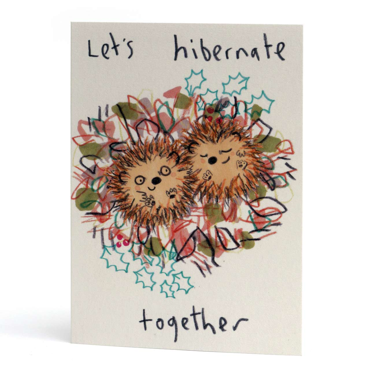 Let's Hibernate Hedgehogs Christmas Card