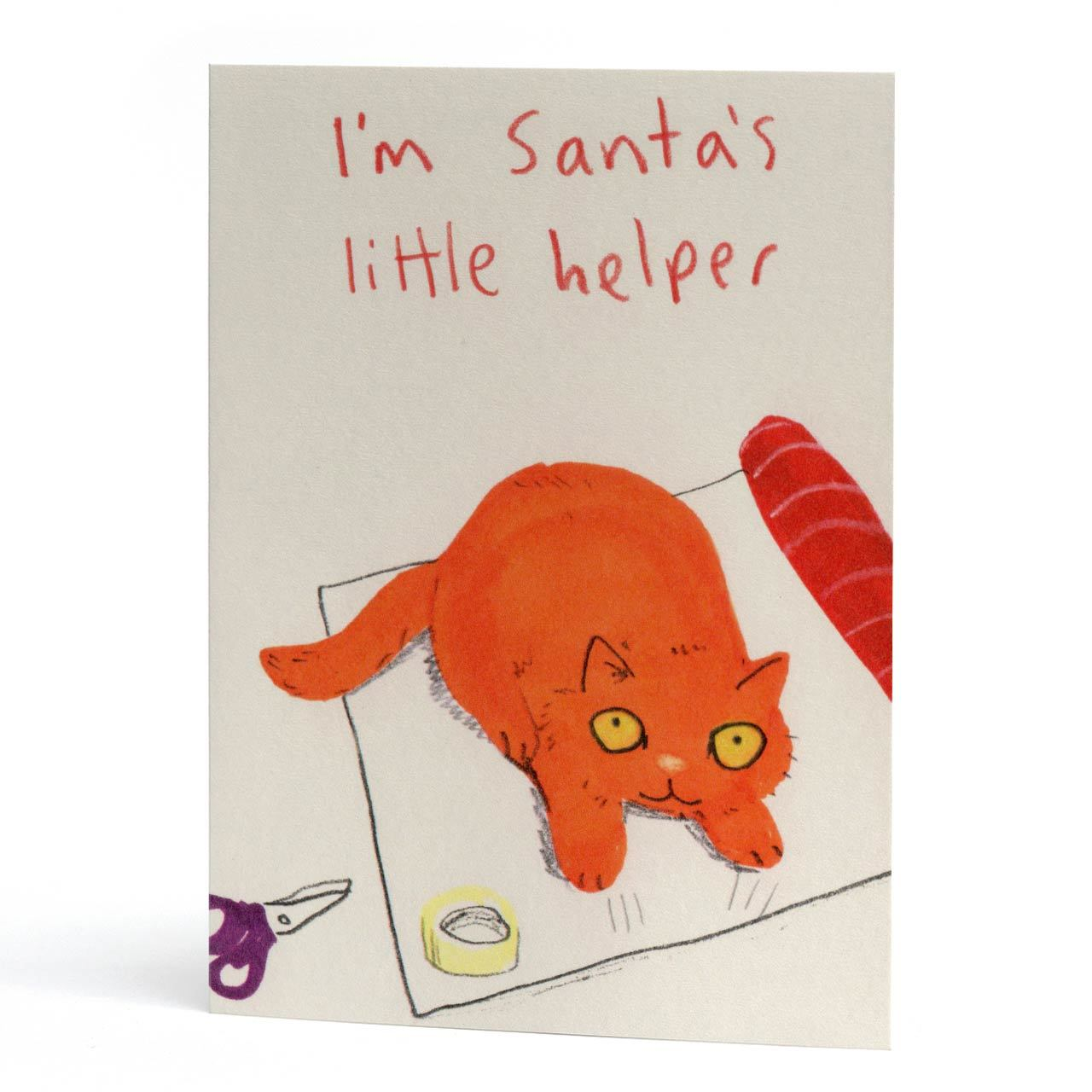 Santa's Helper Christmas Greeting Card