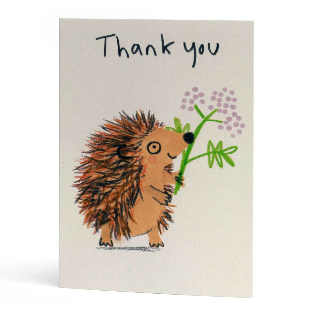 Thank You Hedgehog Greeting Card
