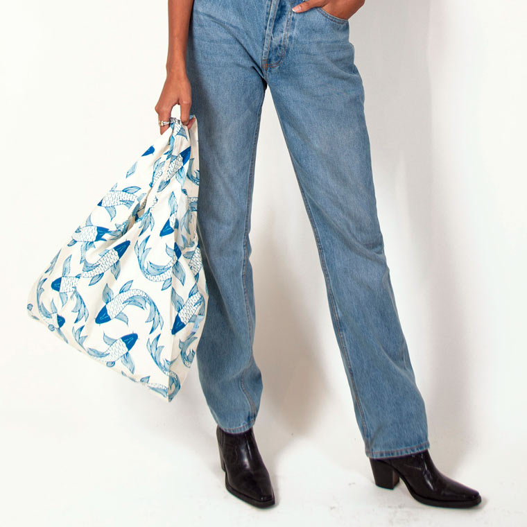 Koi Fish 100% Recycled Reusable Kind Bag