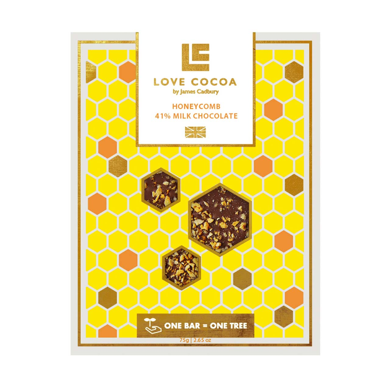 Honeycomb 41% Milk Chocolate Bar