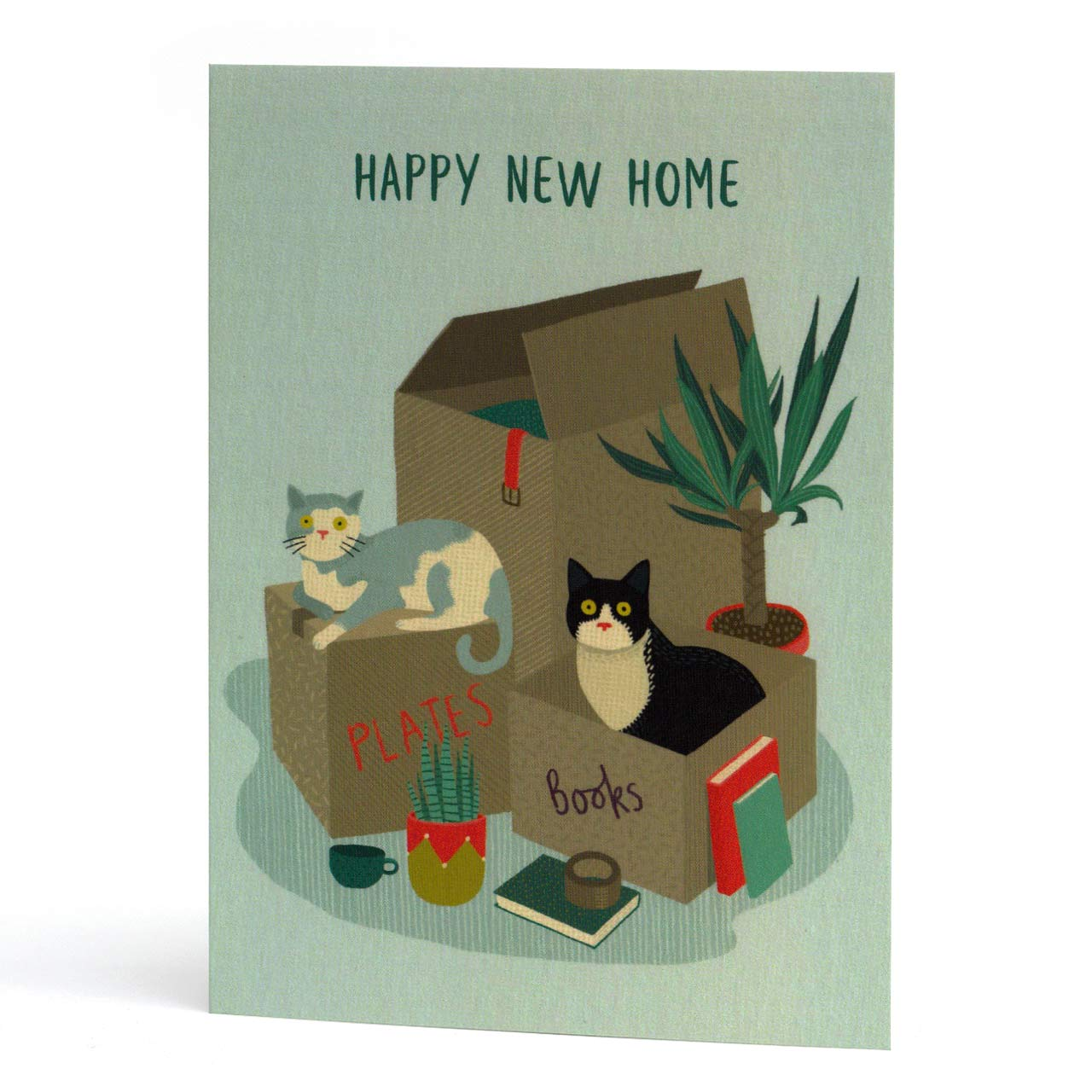 Cat Duo New Home Greeting Card