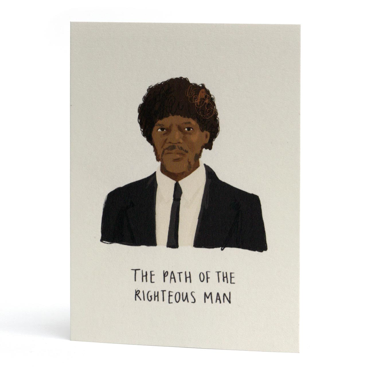 Samuel L Jackson Righteous Man Greeting Card