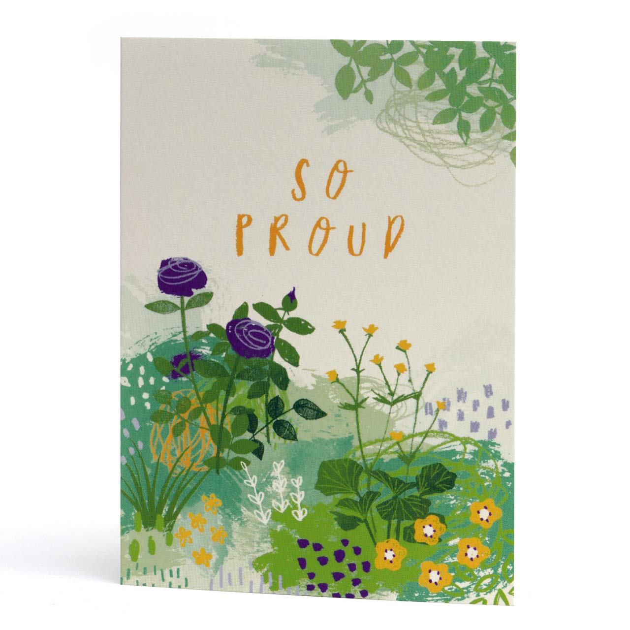So Proud Floral Greeting Card